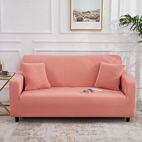 WXQY Fundas Antideslizantes elásticas de Color sólido Funda de sofá Antideslizante Funda de sofá para Mascotas Esquina en Forma de L Funda de sofá Antideslizante A2 2 plazas