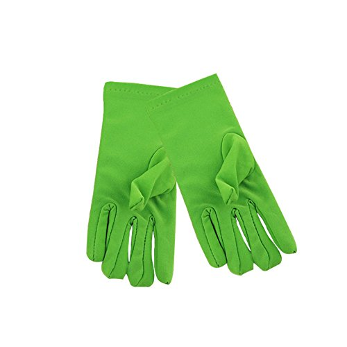 Gespout Guantes Boda Dedos Larga Paño Guantes Vestido Niñas Fiesta Masquerade Cosplay Gloves Delgado Maquillaje Infancia Estudiante de Escuela 1par Aplicar a 3~9años Edad 1par Verde 15cm