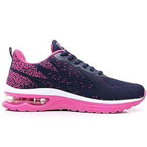 GANNOU Women's Air Athletic Running Shoes Fashion Sport Gym Jogging Tennis Fitness Sneaker Violet 5.5 B(M) US