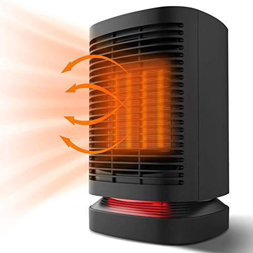 CHENLEI Calefactor eléctrico de cerámica de bajo Consumo con oscilación, protección contra el Calor para baños y dormitorios Marca: Chefavor