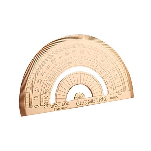 weilifang Messing Triangular Lineal 180-Grad-Winkelmesser BAU Skizze Geometrisches Lineal Jahrgang Lineal Lineal Abbildung Zeichenwerkzeug Lineal Messe