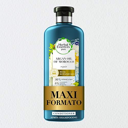 Herbal Essences Balsamo, Olio di Argan, Ripara i Capelli Danneggiati, in Collaborazione con Giardini Botanici Reali di Kew, 360 ml