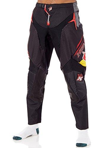 KINI 3L4016105 Equipamiento Piloto con Casco, Pantalon, Camiseta y Guantes, Talla XL/36, Negro