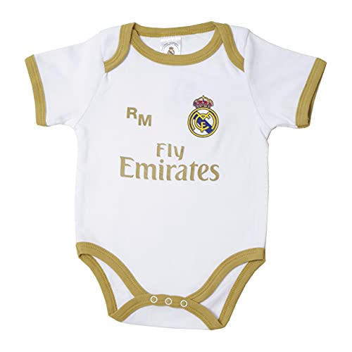 10XDIEZ Body bebe real madrid 813 bco-ocre | (6 meses - ocre)