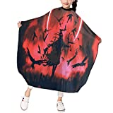Barber Cape, Raven Mage In Eclipse Professional Haircut Cape, Hairdressing Apron, Hair Cutting Cape for Kids
