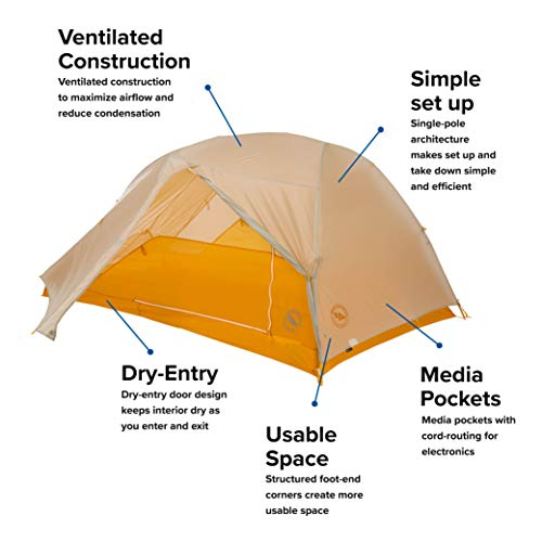 Big Agnes Tiger Wall UL Backpacking Tent, 2 Person