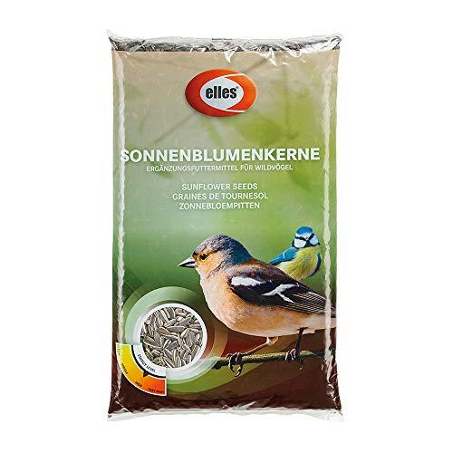Elles Sonnenblumenkerne 1 kg - Vogelfutter Ergänzungsfutter für Wildvögel