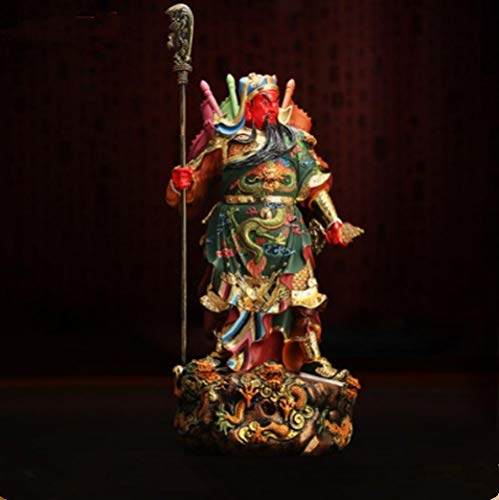 DDXW Sculptures Ornaments Statues And Figurines Guan Gong Statue Resin Hand Carved Home Decoration Accessories 30Cm-A_As_Shown