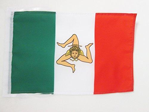 AZ FLAG Flagge UNABHÄNGIGKEITSREGIERUNG VON SIZILIEN 1848 45x30cm mit Kordel - SIZILIEN NATIONALISTEN Fahne 30 x 45 cm - flaggen Top Qualität