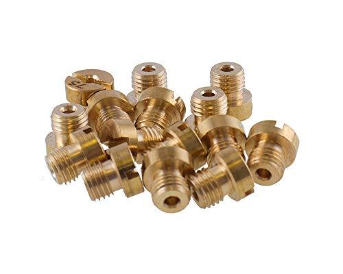 Hauptdüsen Set 15 Stück 60-130 M6 für 12mm - 17,5mm Dellorto Vergaser 6mm Mikuni