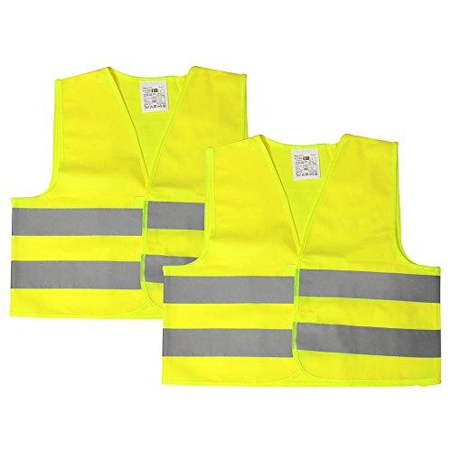 com-four® 2X kit réflecteur pour Enfants - Gilet de sécurité avec Bandes de signalisation réfléchissantes - Gilet de signalisation Lavable en Taille Unique