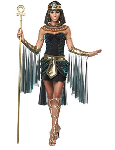 KULTFAKTOR GmbH Sexy Cleopatra Damenkostüm Antike schwarz-Gold M (40/42)