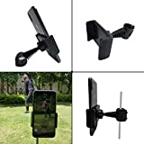 Golf Phone Holder Clip, Cell Phone Swing Recording Clip, Golf Accessories and Training Aid Works with All Kinds Smart Phone, Clips to Golf Alignment Sticks and Golf Club Shaft, Black