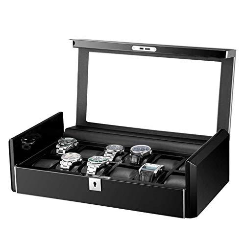 WNDRZ Caja De Relojes con Cremallera De Cuero De PU Estuche De Viaje para Hombres Colección De Organizador De Almacenamiento De Reloj De Regalo