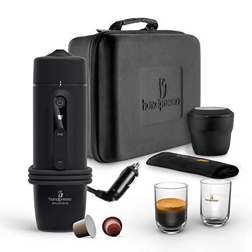 HANDPRESSO - New Handpresso Auto Set Capsule 21021 - Coffret machine a cafe expresso, cafetière portable pour voiture et camion 12V / 24V à capsule Nespresso* compatible