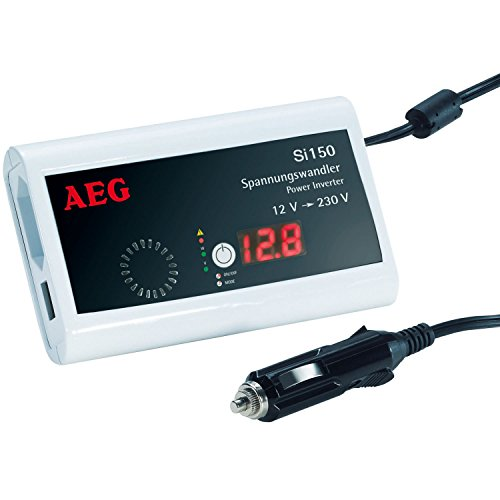 AEG 97110 Pocket Spannungswandler Si 150 mit LED-Display, 150 Watt und zur E-Bike - Akkuladung geeignet