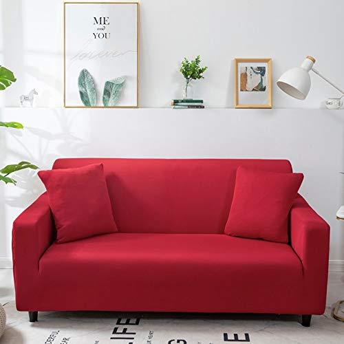 WXQY Funda de sofá monocromática Sala de Estar Funda de sofá elástica elástica combinación de Esquina Chaise Longue sillón Funda de sofá A21 4 plazas