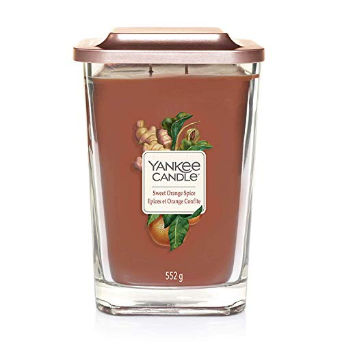 YANKEE CANDLE Colección Elevation con Tapa de Plataforma, Sweet Orange Spice