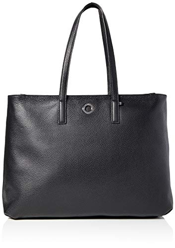 Mandarina Duck Damen Mellow Leather Kuriertasche, Schwarz (Nero), 14x30x40 Centimeters