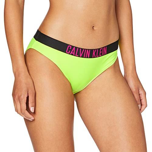 Calvin Klein Damen Classic Bikini-n Bikinioberteil, Gelb (Safety Yellow 13-0630 ZAA), (Herstellergröße: Small)