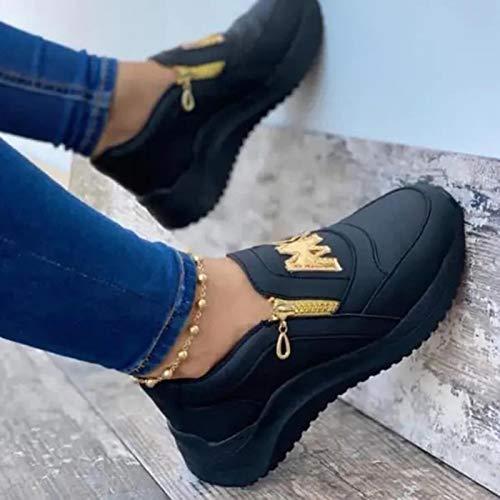 DQS 2021 Nouvelles Femmes Chaussures compensées Fond épais Dames Baskets décontracté Solide compensé Femmes Chaussures sans Lacet Femme Chaussures vulcanisées