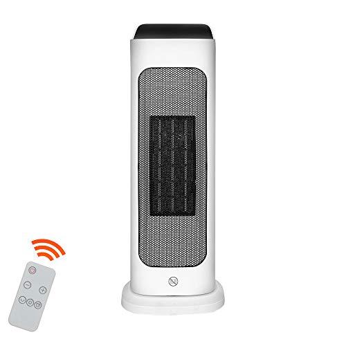 Hengda Heizlüfter mit Touchscreen-Tasten LCD-Elektroheizung mit Fernbedienung 2000 W Klimaanlage Elektrische Heizung 2 Modi Temperatur Schnellheizer mit Timer für Wohnzimmer, Büro, Badezimmer