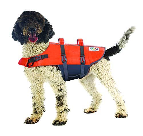 Outward Hound Granby Splash Ripstop Dog Life Jacket, XL, Orange, Model Number: 22022