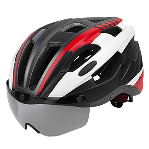 Amagogo Casco Ultraleggero Regolabile per Donna, Uomo, Casco per Bici da Corsa, Casco Protettivo - Rosso