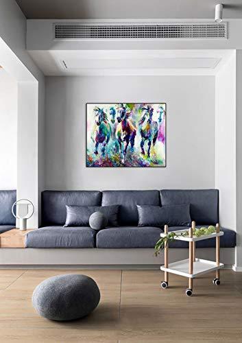 DIY Schilderen op nummerkinderen schilderen kitTwee paarden vliegen handgeschilderd frameloos schilderij 40x50cm