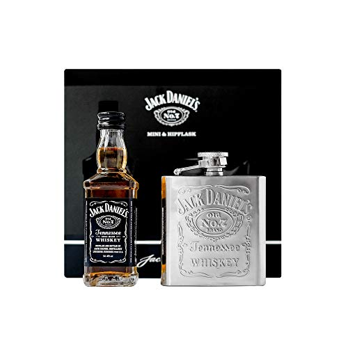 Jack Daniel's Whiskey 5cl Miniature and Hip Flask | for sale  Delivered anywhere in UK
