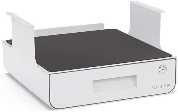 UPLIFT Desk Locking Under Desk Drawer With Shelf White