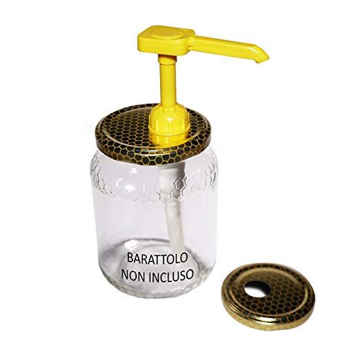 BeeLovers Dosatore Miele Dispenser Dosamiele Per Vaso Miele Utensile Liquidi Made In Ita