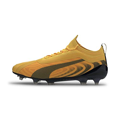Puma One 20.1 Fg/ag Scarpe da calcio da uomo, Giallo (Yellow Puma Black Orange), 37 EU Schmal