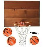 "Cali Kiwi Pros Indoor Basketball Wood Backboard, for Wall Made with American Cedar. Includes 9"" Hoop, Net & 3 Mini Basketballs & Hand Pump + 5 Bonus Balls (Cedar Natural)"