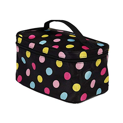 YFancy Travel Makeup Bags Makeup Cosmetic Case Letter Print Organizer Portable Storage Bag with Cosmetics Makeup Brushes Jewelry Accessories Bag