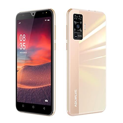 4G - Teléfono móvil libre de 6.3 pulgadas Waterdrop Android 9.0 - Smartphone sin caro, 32 GB RAM + 3 GB ROM/Extensible, Dual SIM, cara ID,4600mAh - Teléfono móvil sin necesidad de paquete (rosa)