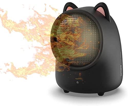 Termoventilador Calentador de aire del escritorio de la oficina de los calentadores eléctricos del espacio portátil 500W PTC Aficionado a la mano del ventilador de cerámica for el hogar. Vertical Cale