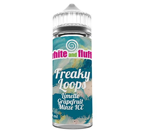 White and Fluffy ® e-Liquid SHOT OVER BAGHDAD Shake-and-Vape für Ihre e-Zigarette, 0,0 mg Nikotin, 40ml (FREAKY LOOPS)