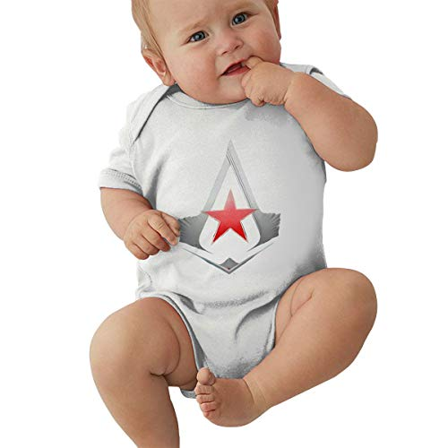 Assassin's Creed Boys Onesies Unisex-Baby Cotton Short Sleeve Shirt White