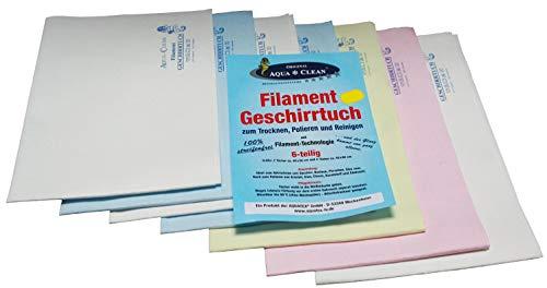 AQUA CLEAN Filament Geschirrtuch 6er Set