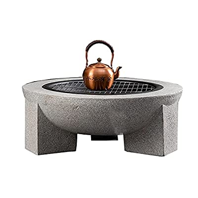 Fire Pit Wood-Burning fire Pit, Garden Terrace Outdoor Fireplace, 3-in-1 Barbecue Grill, ice Pit, Heating Fireplace by Lijack