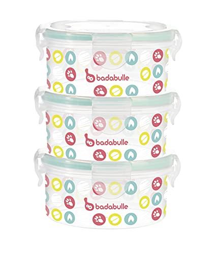 Badabulle Pack de contenedores, 300 ml, 3 Unidades