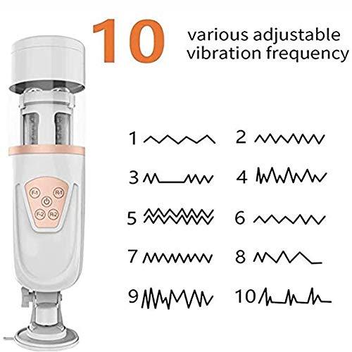 Automatische Masturbator 10 Automatische Frequentie Kunstkut Ultra Flexibele Masturbatiebeker Oplaadbare Waterdichte Penisstimulator