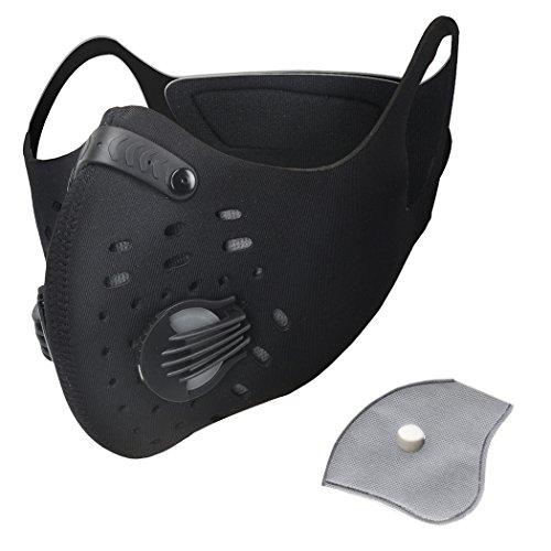 Pioneeryao Máscara Antipolución Máscara para Ciclismo Filtro de Aire mascarilla de...
