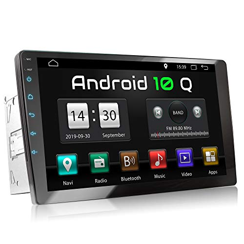 XOMAX XM-2VA901 Autoradio mit Android 10, QuadCore, 2GB RAM, 32GB ROM, GPS Navigation I Support: WiFi WLAN, 3G 4G, DAB+, OBD2 I Bluetooth, 9 Zoll / 22,9 cm XXL Touchscreen, 2X USB, 2 DIN