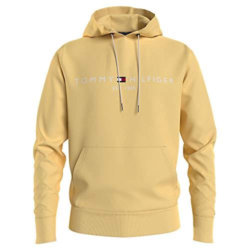 Tommy Hilfiger Tommy Logo Hoody Sudadera con Capucha, Amarillo Delicado, L para Hombre