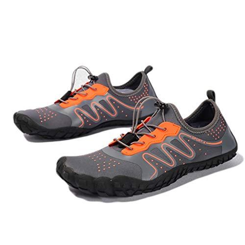 WXYPP Barefoot Plus Tamaño Zapatos de Agua Secado rápido de los Hombres Zapatos de natación de Secado rápido de Buceo Zapatos de Secado rápido Calcetines De Agua (Color : Orange, Size : 43EU)
