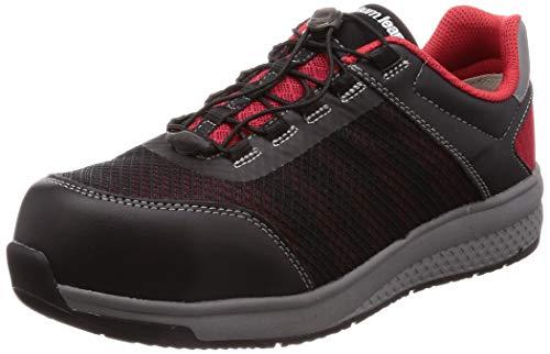 [ミドリ安全] 安全作業靴 JSAA認定 高反発 耐滑 軽量 プロスニーカー クワンタムリープ QL01 ブラック&レッド 27.5 cm 3E