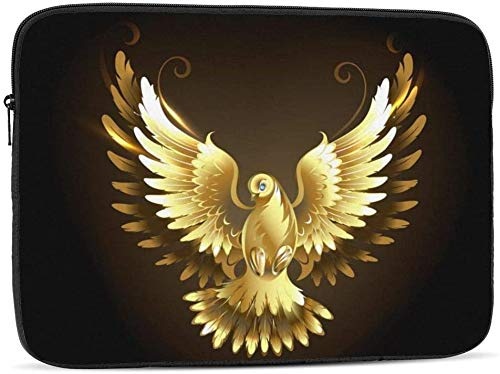 Gold Seashells Laptop Sleeve Bag Compatible with 10-17 Inch Funny Computer Bag Laptop Case-Gold Dove,17inch