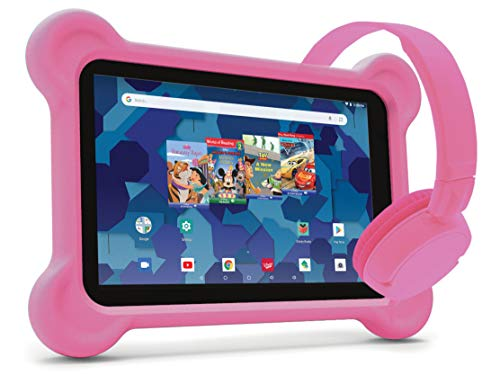 RCA Android Tablet Bundle (8″ Tablet, Audio Books, Bumper Case, Headphones) – Disney Edition Pink
